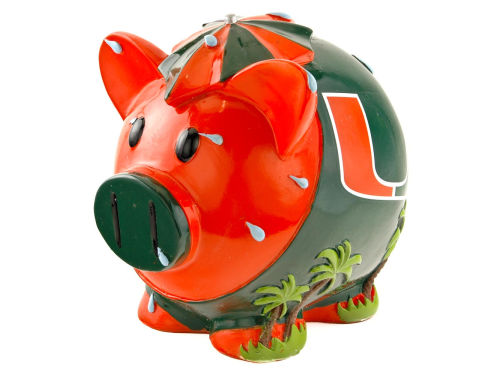 Miami Hurricanes Thematic Piggy Bank NCAA
