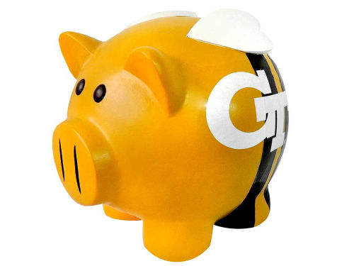 Georgia Tech Yellow Jackets Thematic Piggy Bank NCAA