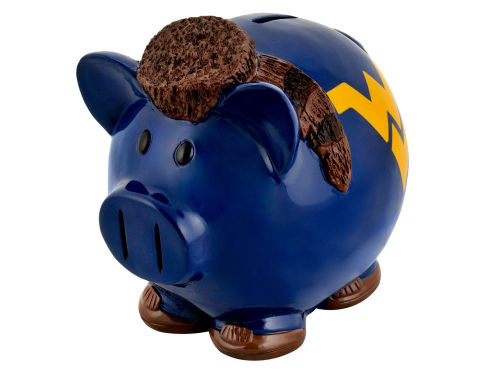 West Virginia Mountaineers Thematic Piggy Bank NCAA