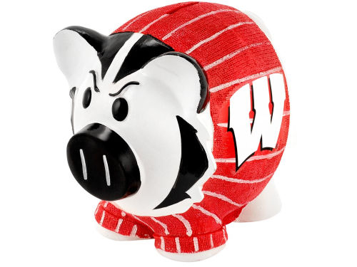 Wisconsin Badgers Mini Thematic Piggy Bank NCAA