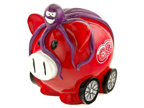 Detroit Red Wings Forever Collectibles Thematic Piggy Bank-NHL