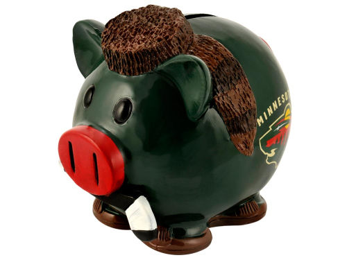 Minnesota Wild Mini Thematic Piggy Bank-NHL