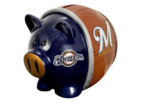 Milwaukee Brewers MLB Thematic Piggy Bank-Large