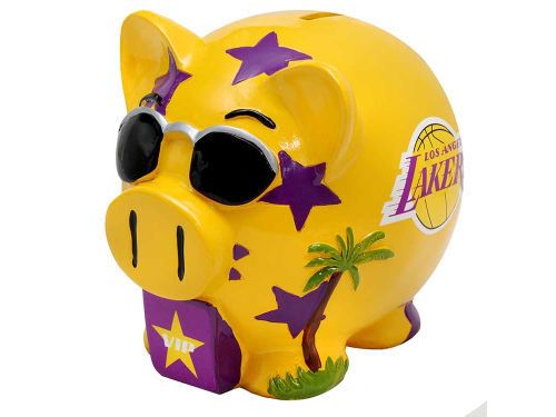 Los Angeles Lakers NBA Thematic Piggy Bank-Large
