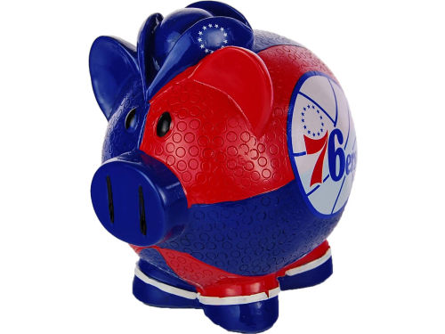 Philadelphia 76ers Forever Collectibles NBA Thematic Piggy Bank-Large