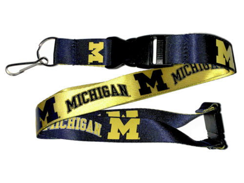 Michigan Wolverines Reversable Lanyard Aminco