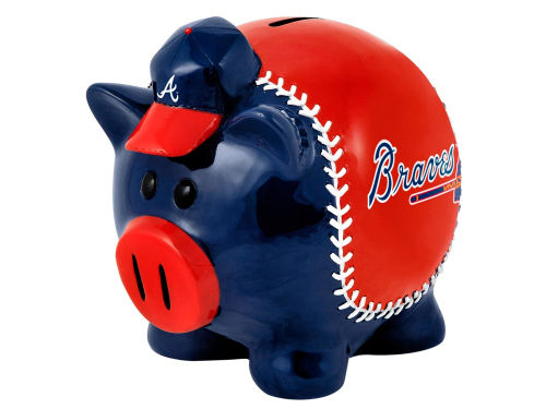 Atlanta Braves Forever Collectibles MLB Thematic Piggy Bank-Small