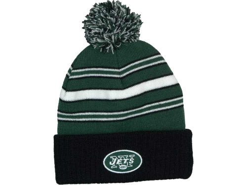 New York Jets Outerstuff NFL OUT Cuffed Pom Knit Hats