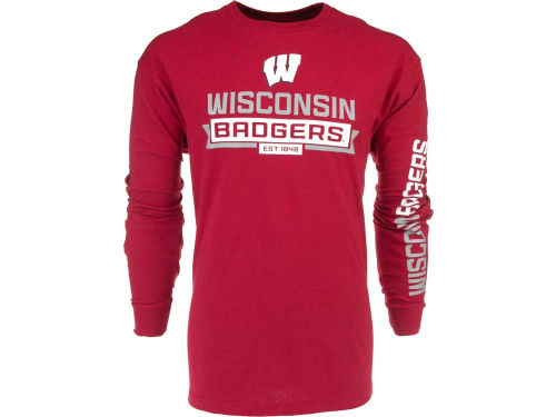 Wisconsin Badgers Outerstuff NCAA Balanced Long Sleeve T-Shirt