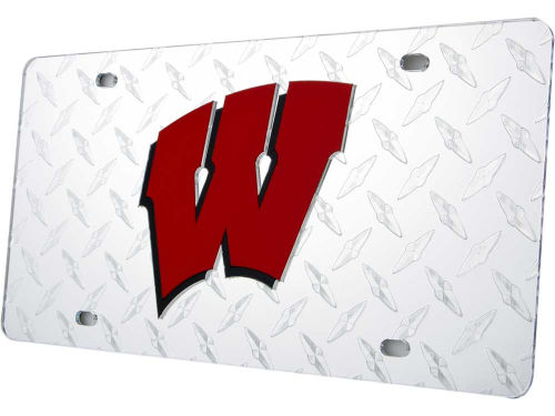 Wisconsin Badgers Diamond Acrylic Laser Tag