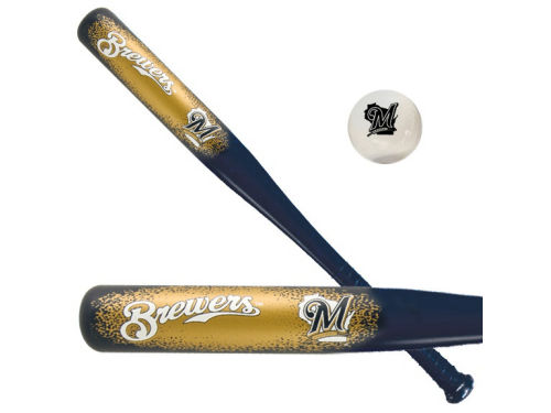 Milwaukee Brewers Aero Strike Bat And Ball Set