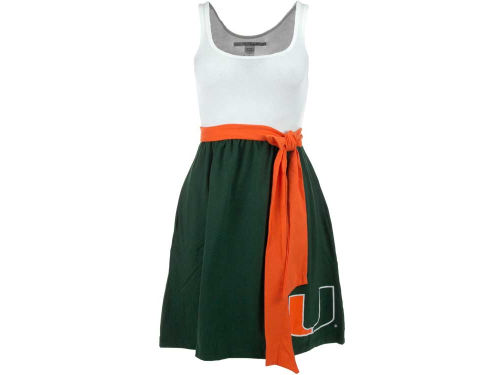 Miami Hurricanes NCAA Womens Babydoll Bowtie Dress