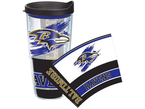 Baltimore Ravens Tervis Tumbler NFL 24oz Wrap with Lid