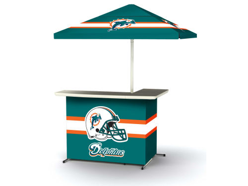Miami Dolphins Portable Bar System with Side Table
