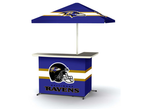 Baltimore Ravens Portable Bar System with Side Table