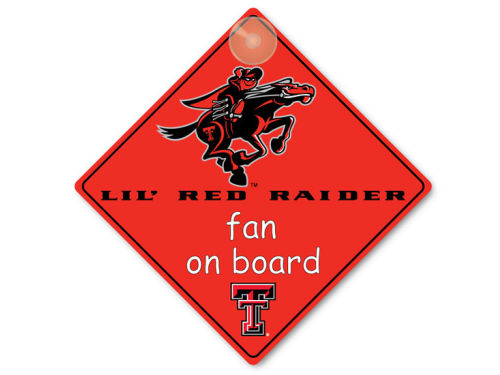 Texas Tech Red Raiders Lil Fan On Board Sign