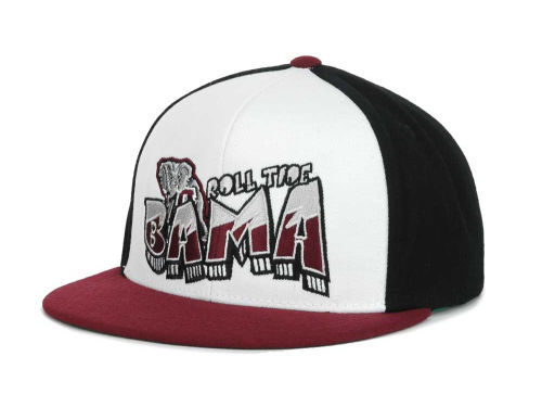 Alabama Crimson Tide Top of the World Wild Stylez Snapback Cap Hats