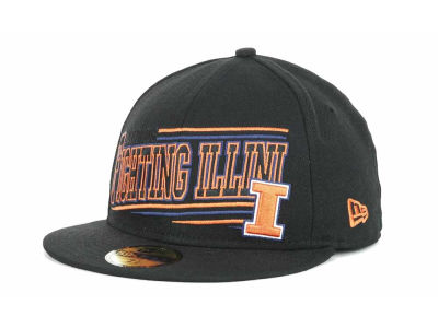 Illinois Fighting Illini NCAA Angular 59FIFTY Hats