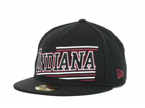Indiana Hoosiers New Era NCAA Angular 59FIFTY Hats