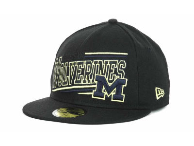 Michigan Wolverines NCAA Angular 59FIFTY Hats