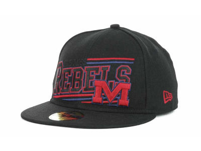 Mississippi Rebels NCAA Angular 59FIFTY Hats