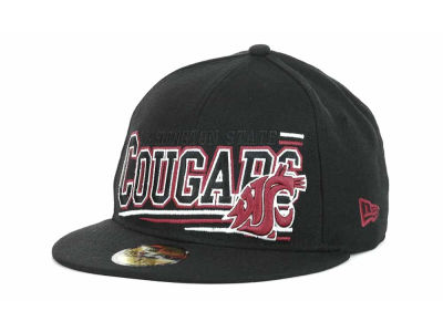 Washington State Cougars NCAA Angular 59FIFTY Hats