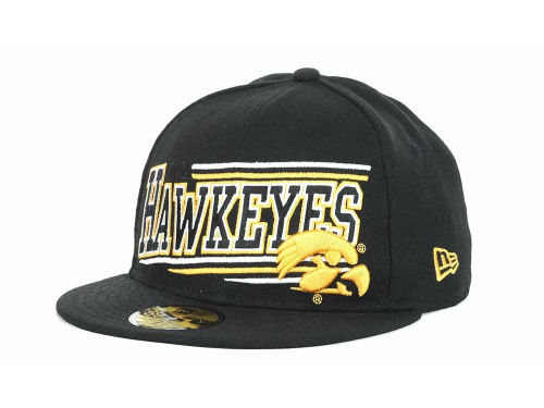 Iowa Hawkeyes New Era NCAA Angular 59FIFTY Hats