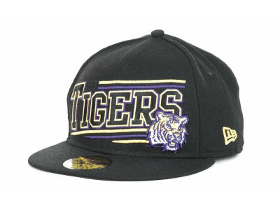 LSU Tigers NCAA Angular 59FIFTY Hats
