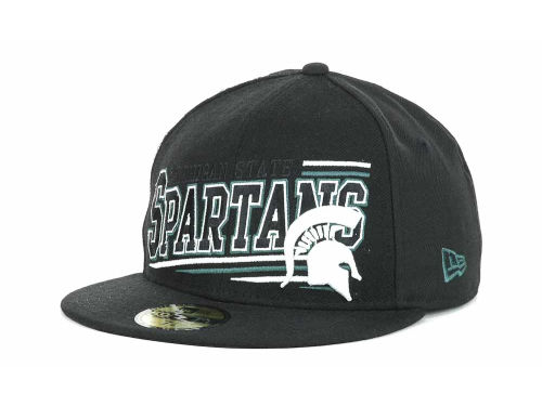 Michigan State Spartans New Era NCAA Angular 59FIFTY Hats
