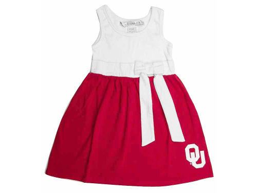 Oklahoma Sooners NCAA Toddler Babydoll Bowtie Dress