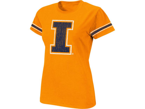 Illinois Fighting Illini Colosseum NCAA Womens Galaxy T-Shirt