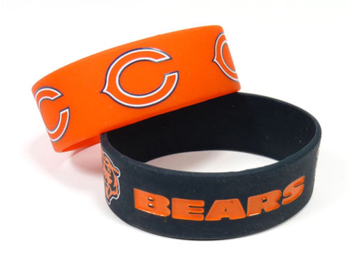 Chicago Bears Wide Bracelet 2pk Aminco