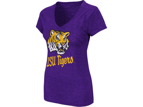 LSU Tigers Colosseum NCAA Womens Favorite Vneck T-Shirt