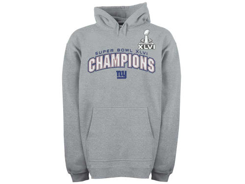 New York Giants NFL Super Bowl XLVI Tackled Stitches Hoodie