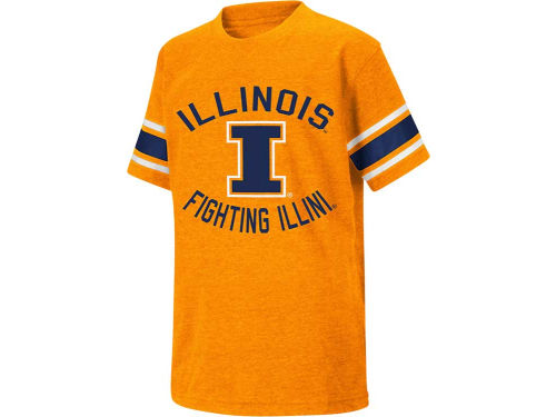Illinois Fighting Illini Colosseum NCAA Youth Football Short Sleeve T-Shirt