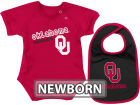 Oklahoma Sooners Colosseum NCAA Newborn Dribble Creeper Bib Set Infant Apparel