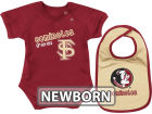 Florida State Seminoles Colosseum NCAA Newborn Dribble Creeper Bib Set Infant Apparel