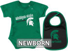 Michigan State Spartans Colosseum NCAA Newborn Dribble Creeper Bib Set Infant Apparel
