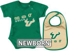 South Florida Bulls Colosseum NCAA Newborn Dribble Creeper Bib Set Infant Apparel
