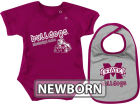 Mississippi State Bulldogs Colosseum NCAA Newborn Dribble Creeper Bib Set Infant Apparel