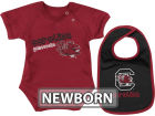 South Carolina Gamecocks Colosseum NCAA Newborn Dribble Creeper Bib Set Infant Apparel