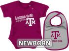 Texas A&M Aggies Colosseum NCAA Newborn Dribble Creeper Bib Set Infant Apparel