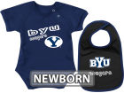 Brigham Young Cougars Colosseum NCAA Newborn Dribble Creeper Bib Set Infant Apparel