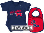 Mississippi Rebels Colosseum NCAA Newborn Dribble Creeper Bib Set Infant Apparel