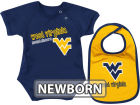 West Virginia Mountaineers Colosseum NCAA Newborn Dribble Creeper Bib Set Infant Apparel