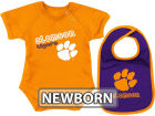 Clemson Tigers Colosseum NCAA Newborn Dribble Creeper Bib Set Infant Apparel