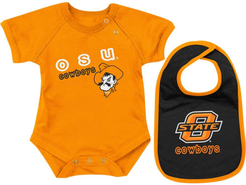 Oklahoma State Cowboys Colosseum NCAA Newborn Dribble Creeper Bib Set