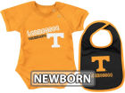 Tennessee Volunteers Colosseum NCAA Newborn Dribble Creeper Bib Set Infant Apparel