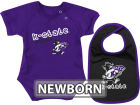Kansas State Wildcats Colosseum NCAA Newborn Dribble Creeper Bib Set Infant Apparel