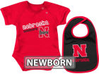 Nebraska Cornhuskers Colosseum NCAA Newborn Dribble Creeper Bib Set Infant Apparel